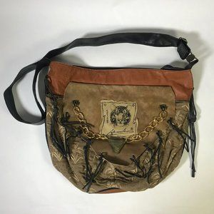 Beautiful & Unique Leather Tiger Bucket Bag